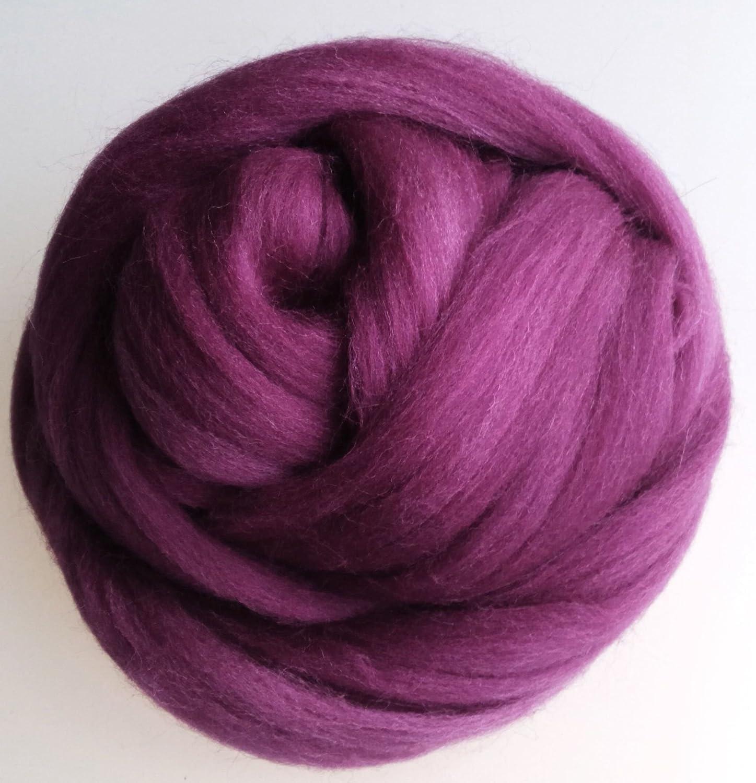 Mauve//purple HEATHER ROVING 50g MERINO NEEDLE FELTING WOOL FIBRE