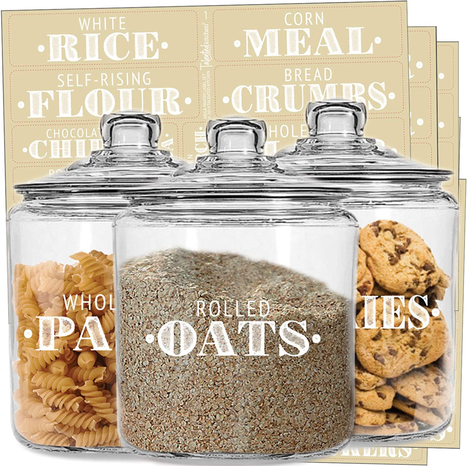 Farmhouse decor Kitchen labels Farmhouse canisters Labels for canisters-Pantry organization-kitchen decal Pantry labels Canister labels