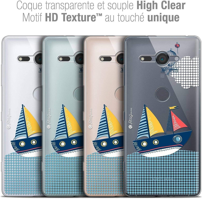 Crystal Gel HD Collection Petits Grains/® Design MVE Le Bateau - Souple - Ultra Fin - Imprim/é en France 5.0 Caseink Coque pour Sony Xperia XZ2 Compact Housse Etui
