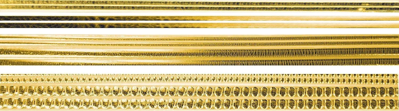 Verzierwachsstreifen-Sortiment 12 St/ück Gold-Gl/änzend 22cm