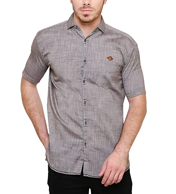 c23d1230 Kuons Avenue Men's Coffee Brown Cotton Linen Half Sleeve Slim Fit Casual  Shirt for Men: Amazon.in: Clothing & Accessories