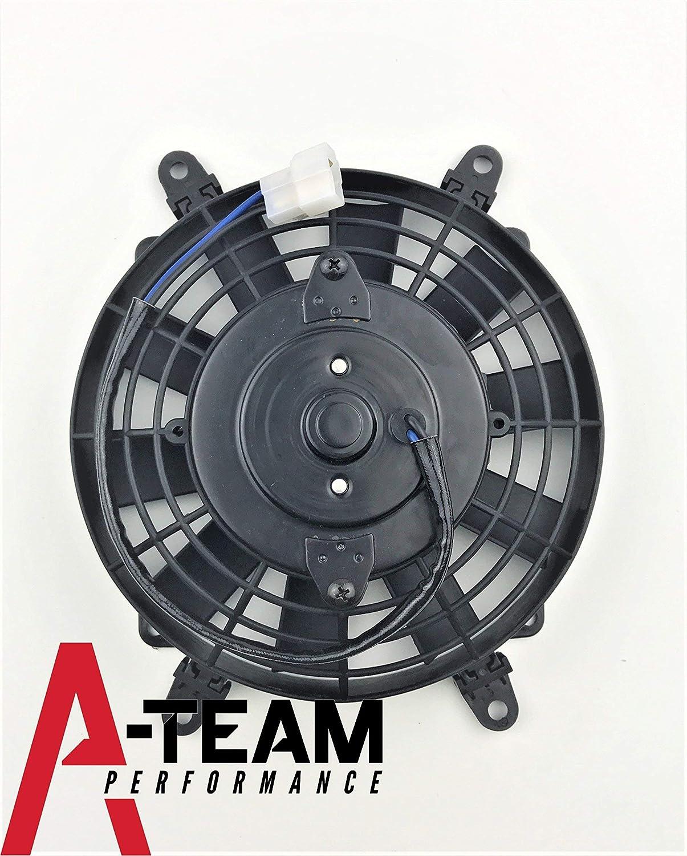 A-Team Performance 120021 8 HIGH PERFORMANCE 1700 CFM 12V ELECTRIC RADIATOR COOLING FAN REVERSABLE FLAT BLADE 10 BLADE