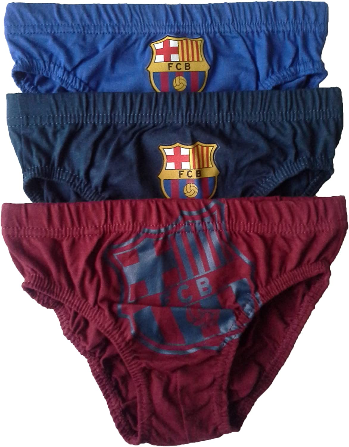 Boys Barcelona Briefs Pants Underpants Underwear Slips - 3 Pack - Official  Licenced 100% Cotton - 2-12 Years (2-3 Years): Amazon.co.uk: Clothing