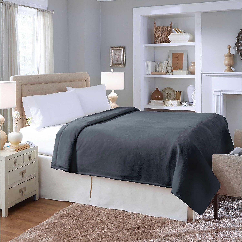 Amazon.com: Therapedic Silky Plush Warming Blanket in Ash (KING): Home &  Kitchen