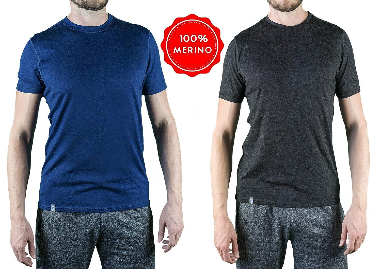 Alpin Loacker Merino T-Shirt Merino-Wolle Sportshirt Herren | wenig Schweiß + Lange trocken | Funktionsshirt Merino Unterwäsche Herren