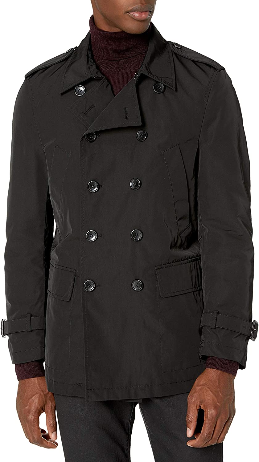 L black Tallia Mens Vogata Light Weight Peacoat