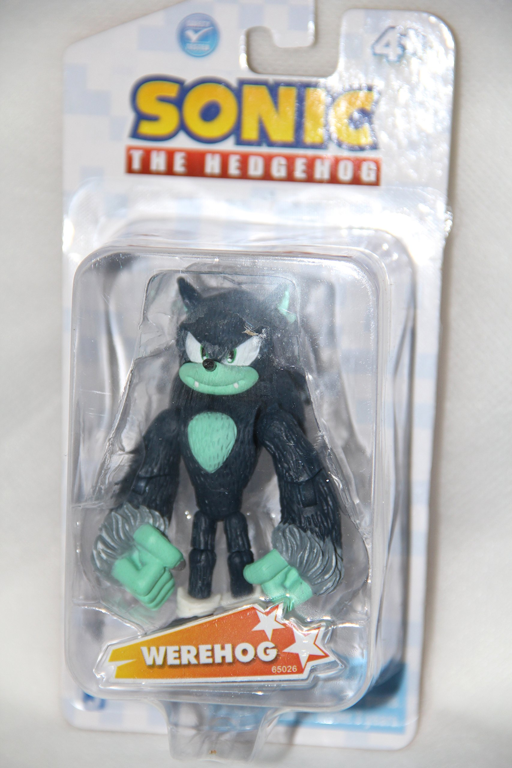 "Sonic the Hedgehog Werehog 3.5"" Plastic Action Figure by Jazwares"