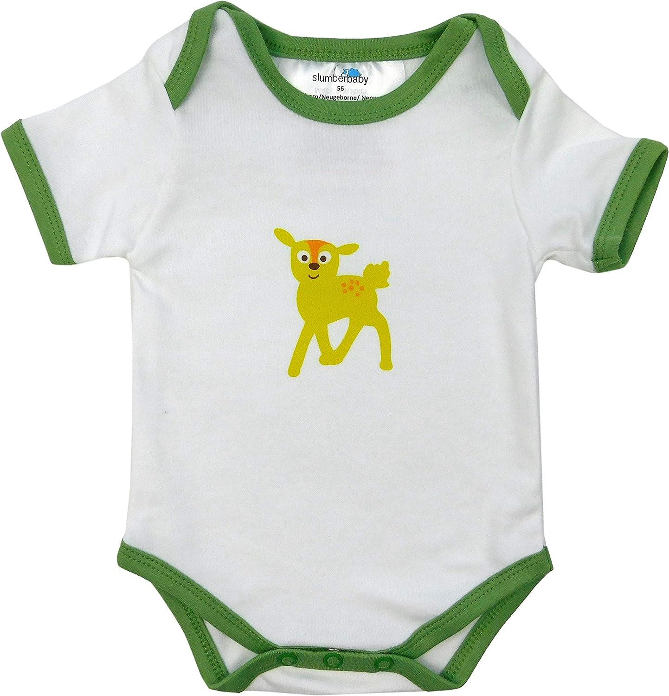 Slumberbaby Baby Body Maniche corte AMICI DELLA FORESTA Pacco da 5 taglia 4 80cm