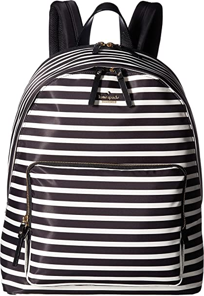 check out c601e 9333e Kate Spade New York Women's 15 Inch Nylon Tech Backpack Black/Clotted Cream  1 One Size