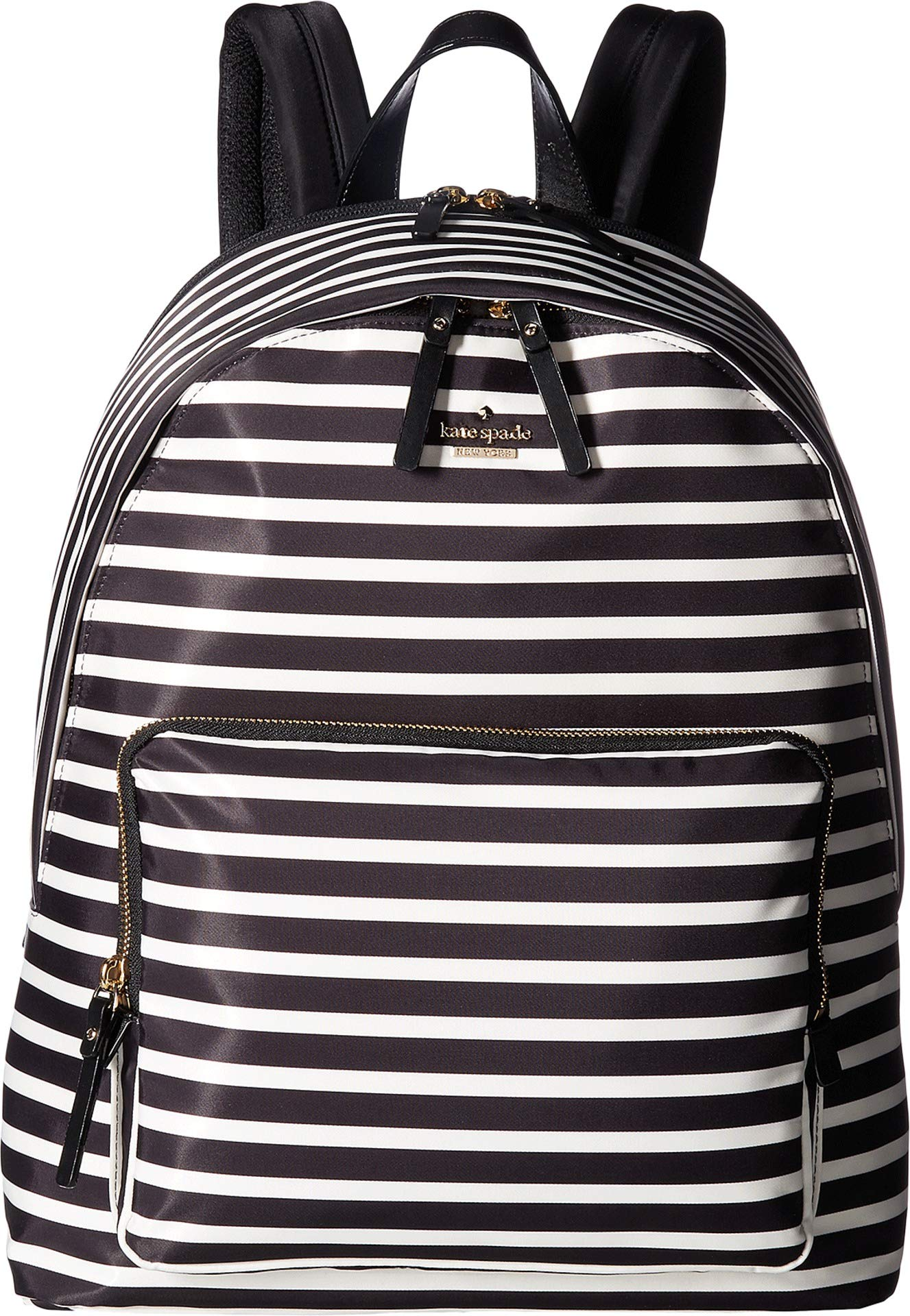 Kate Spade New York Women's 15 Inch Nylon Tech Backpack Black/Clotted Cream 1 One Size