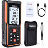 Tacklife S5-60 Upgraded Laser Measure 196Ft M/Ft/Inch Rechargeable Mute Laser Distance Meter with Electronic Angle…