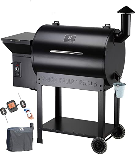 Z GRILLS ZPG-7002B Wood Pellet Grill Smoker for Outdoor Cooking with Cover, 2020 Upgrade, 8-in-1 ZPG-7002BPro