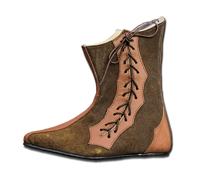 CP Schuhe Mittelalter Schuhe Halbstiefel aus Rauhleder
