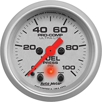 "Autometer Sport-Comp 2-1//16/"" Fuel Pressure 0-100 PSI Mechanical Gauge"