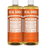 Dr. Bronner's - Pure-Castile Liquid Soap (Tea Tree, 32 ounce, 2-Pack) - Made with Organic Oils, 18-in-1 Uses: Acne-Prone Skin