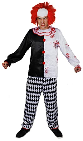 Disfraz de adulto de payaso asesino – Crazy payaso disfraz perfecto disfraz de Halloween – disponible
