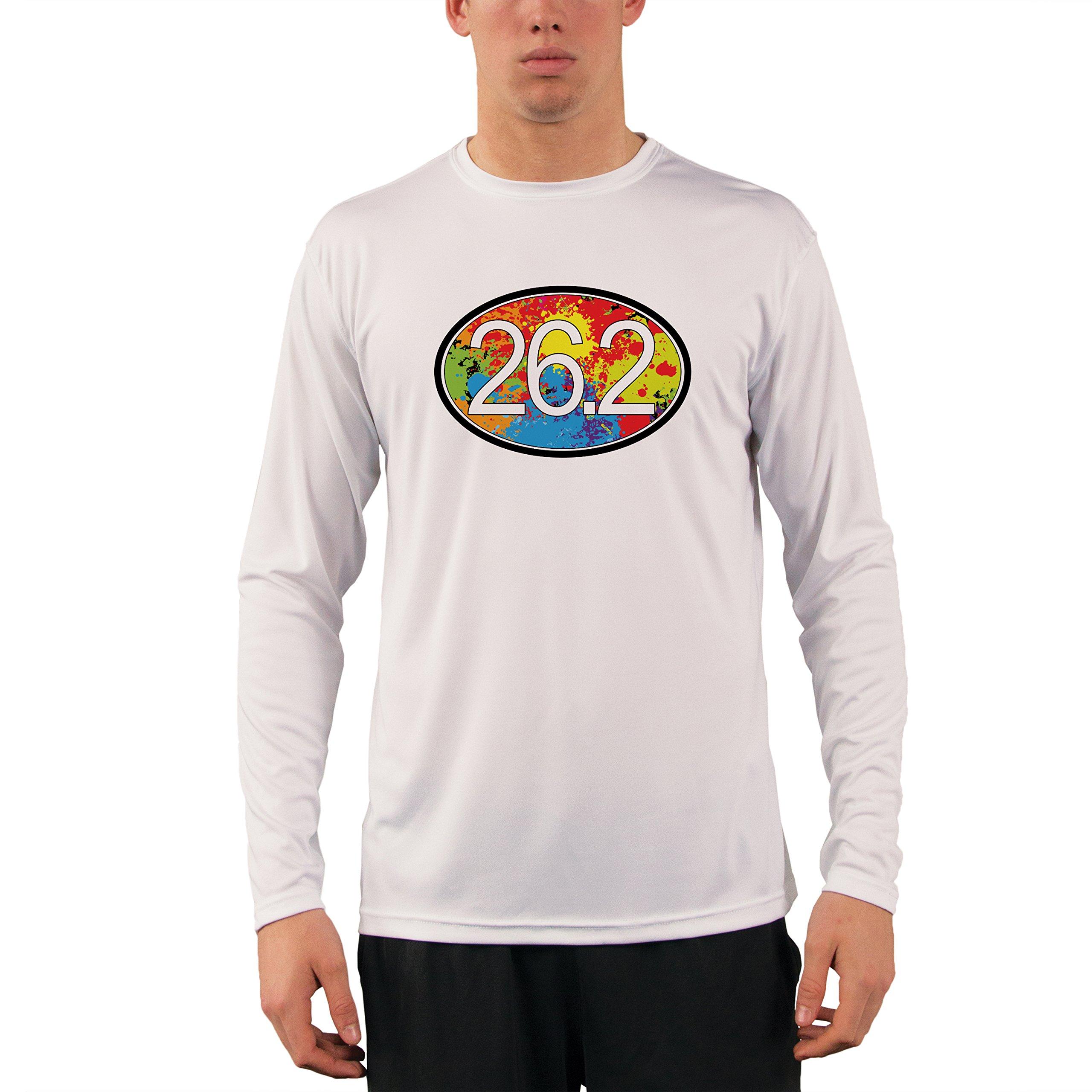 Split Time Mens Run Houston UPF Long Sleeve Running T-Shirt