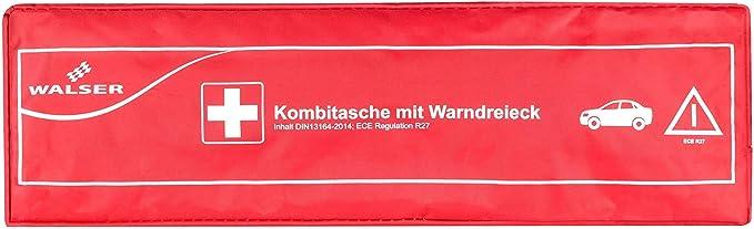 Walser 44265 Kfz Verbandstasche Kombi 2 Rot Nach Din 13164 Auto