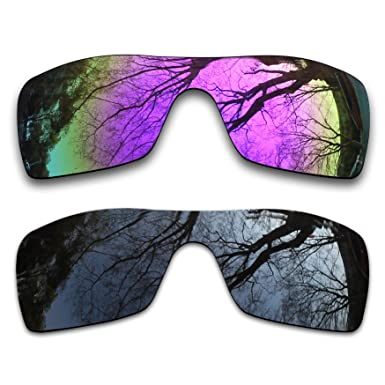 232bdce353 Image Unavailable. Image not available for. Color  2 Pair Polarized Lens  Replacement for Oakley Batwolf Black Plasma Purple