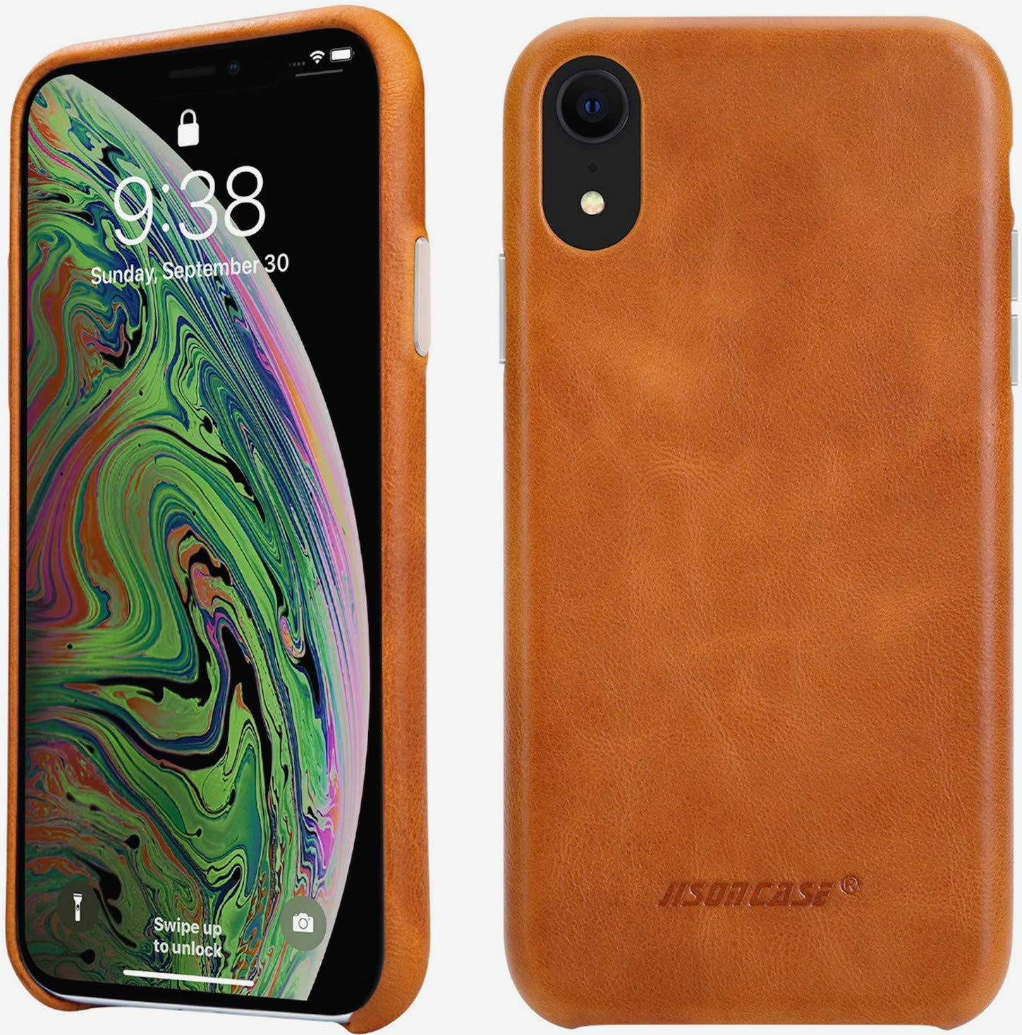 slim leather iphone xr case