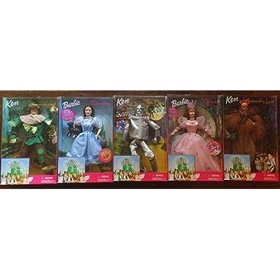 Barbie Wizard of Oz Doll Set -Dorothy, Glinda, Tin Man, Scarecrow, Cowardly Lion: Toys & Games