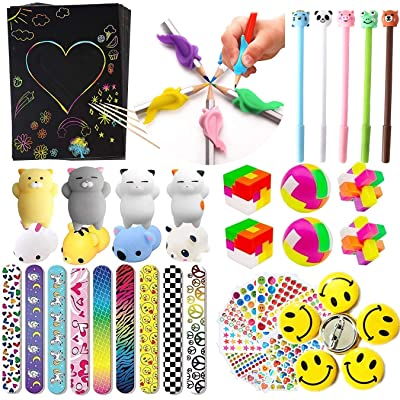 96Pcs Novelty Designed for Classroom Teacher Supplies Treasure Box Prizes,Prize Box Toys,Carnival Prizes,Pinata& Goodie Bag Fillers,Party Favors for Kids: Toys & Games