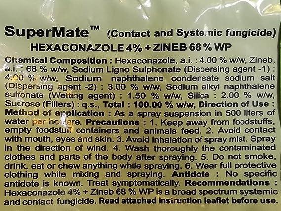Super Mate 500GMS (HEXACONZOLE4%+ZINEB 68% WP) Contact