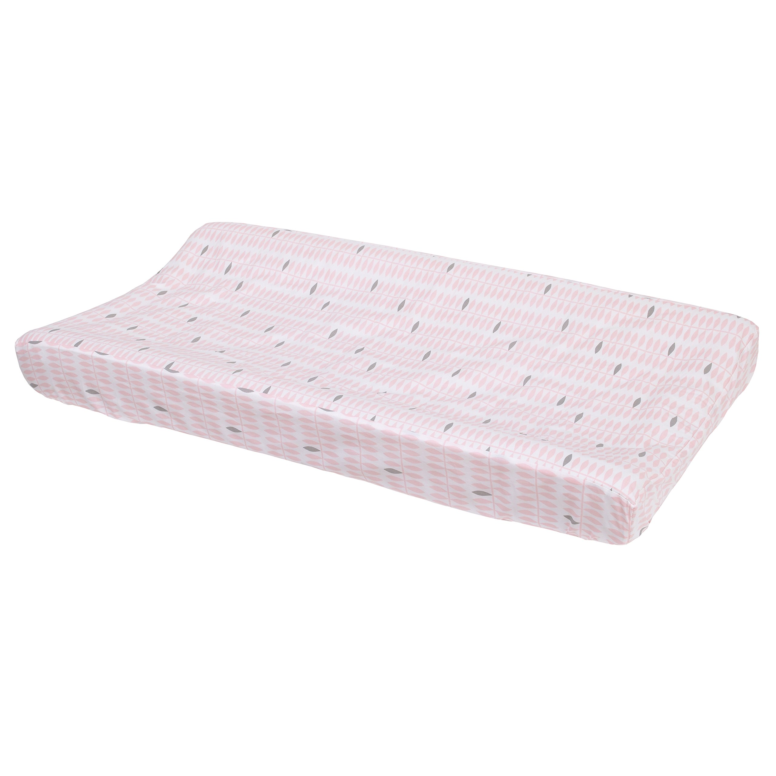 Petunia Pickle Bottom Dreaming in Dax Quilted Changing Pad Cover, Pink/Gray/White
