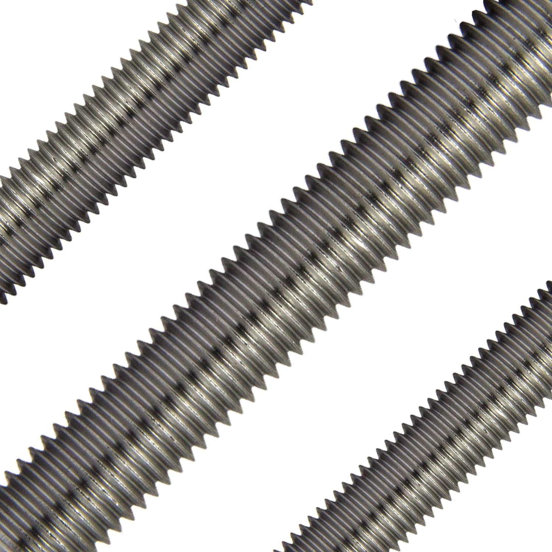| 1 Meter Gewindebolzen Gewindestangen M5 x 1000 mm DIN 975 Edelstahl A2 4 St/ück OPIOL QUALITY rostfrei Gewinde Stange