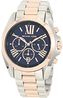Amazon.com: Michael Kors Womens Bradshaw Gold-Tone Watch ...