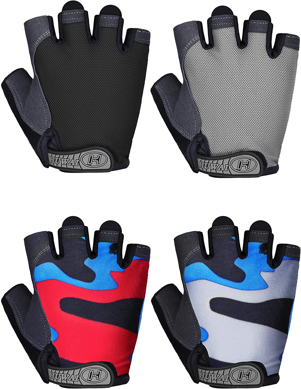 Men Outdoor Sports Gloves For Racing Bicycle Motorcycle Mountain Bike Fingerless