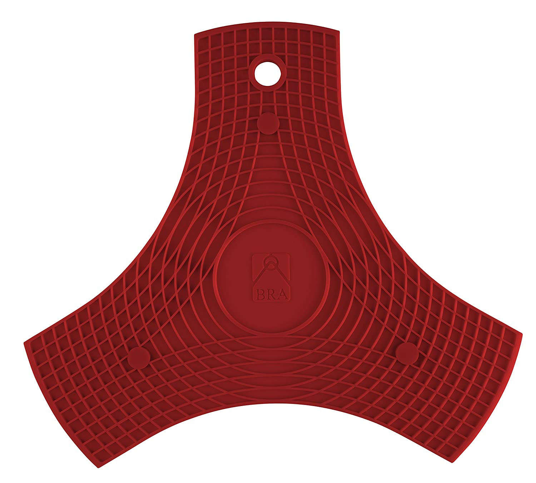 Compra BRA Safe-Salvamanteles de Silicona Multiusos imantado, 2 Unidades, Color Rojo, 27 cm en Amazon.es