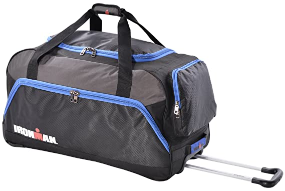 ironman 28 inch 3 pocket rolling duffel bag with extendable handle
