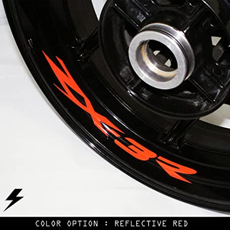 Motorcycle Accessories Automotive YELLOW REFLECTIVE WHEEL STRIPES RIM STICKERS TAPE DECALS KAWASAKI ZX3R ZX6R ZX7R