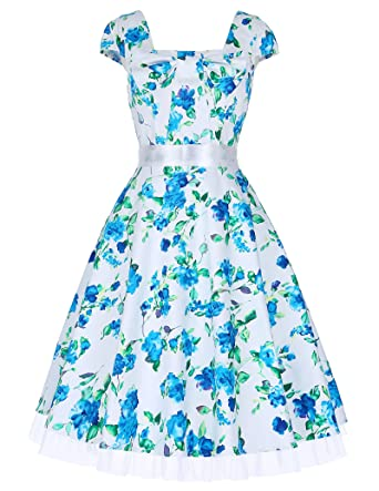 50er jahre vintage rockabilly kleid partykleid Hepburn Stil swing ...