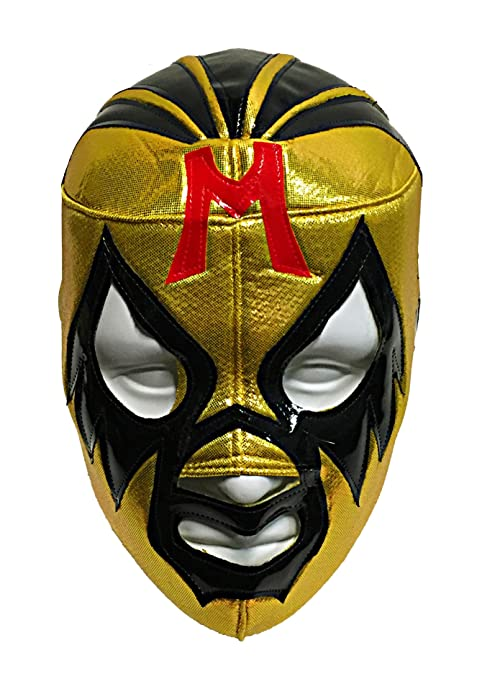 Amazon.com : MIL MASCARAS Adult Lucha Libre Wrestling Mask (pro-fit) Costume Wear - Yellow : Airsoft Masks : Sports & Outdoors