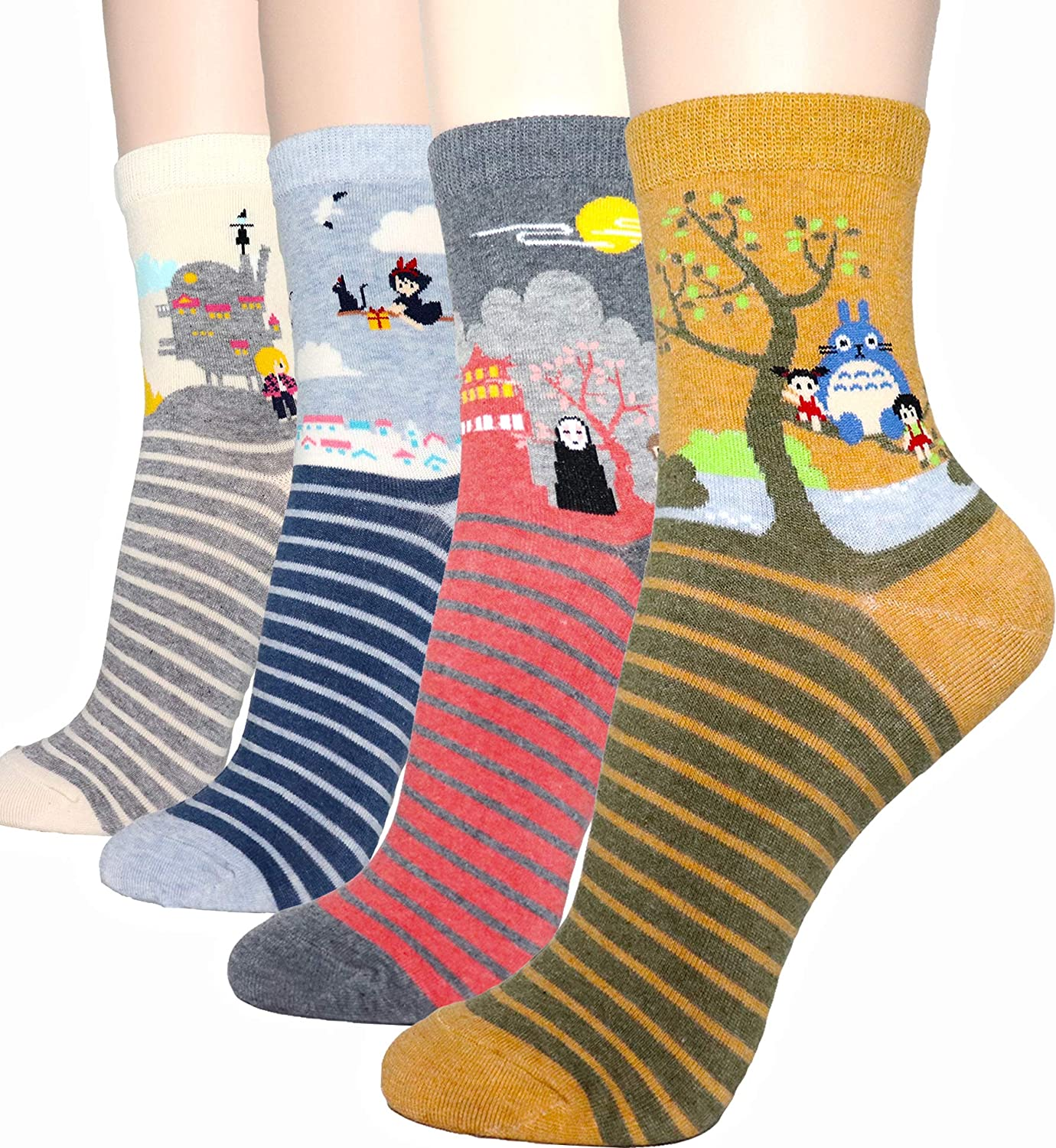 Cute Owl ArtCrazy Socks Casual Cotton Crew Socks Cute Funny Sock Great For Sports And Hiking