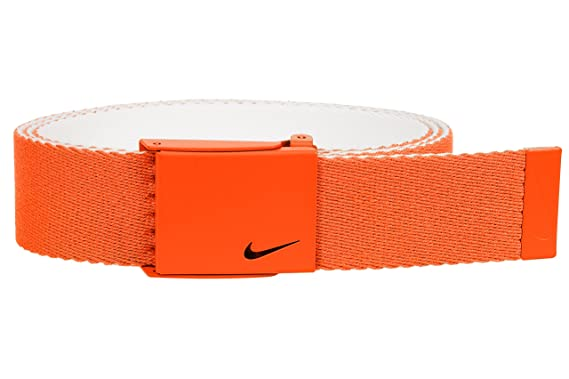 4a94232615 Nike Men's New Tech Essentials Reversible Web Belt, Team Orange/White, One  Size