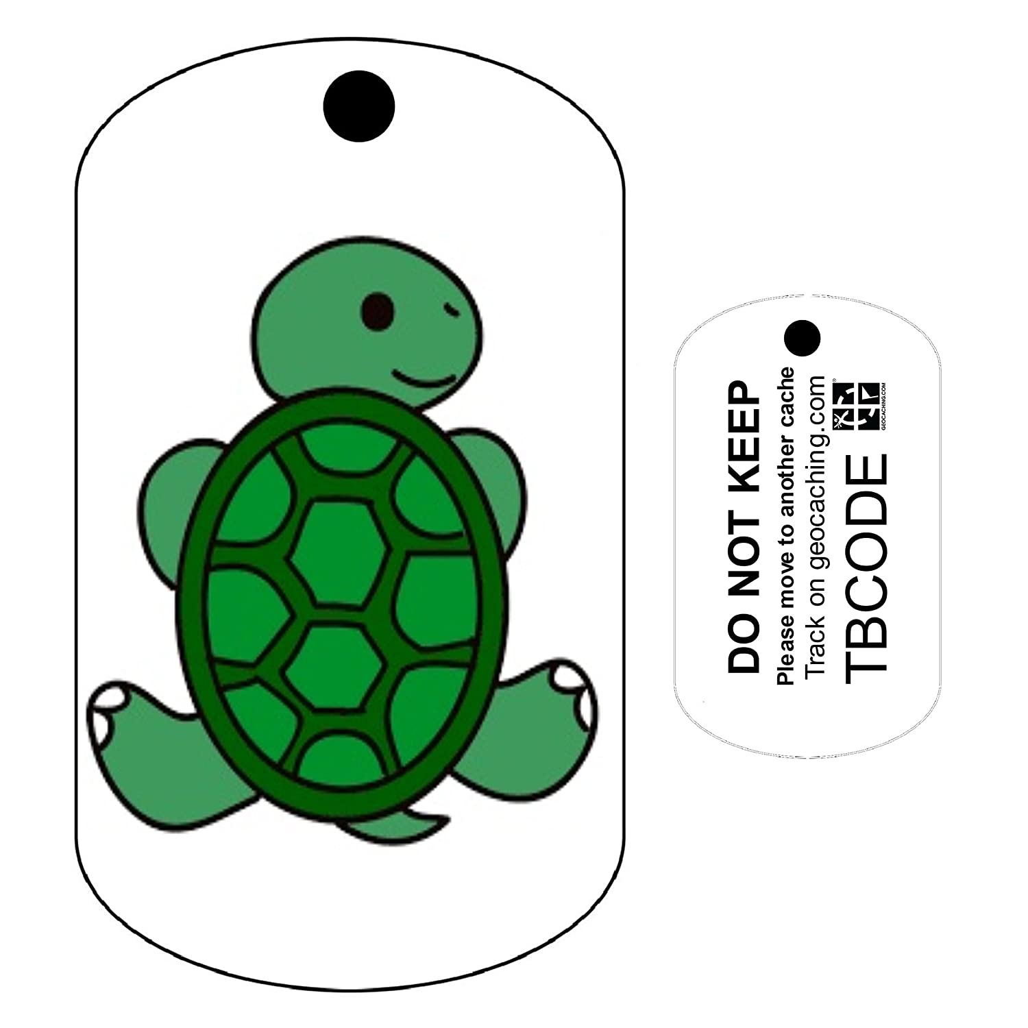 For Geocaching Trackable Tag Travel Bug Timmy the Turtle Unactivated