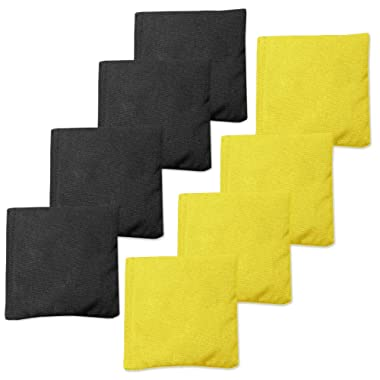 Play Platoon Corn Filled Cornhole Bags - Set of 8 Bean Bags for Corn Hole Game - 7 Color Combinations to Choose from!