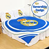 Real Madrid CF Pulse 2 Piece UK Double /US Full Sheet Set, 1 x Double Sided Sheet and 2 x Pillowcases