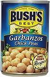 BUSH'S BEST Garbanzo Beans, Canned Beans, Prime Pantry, 16 oz.