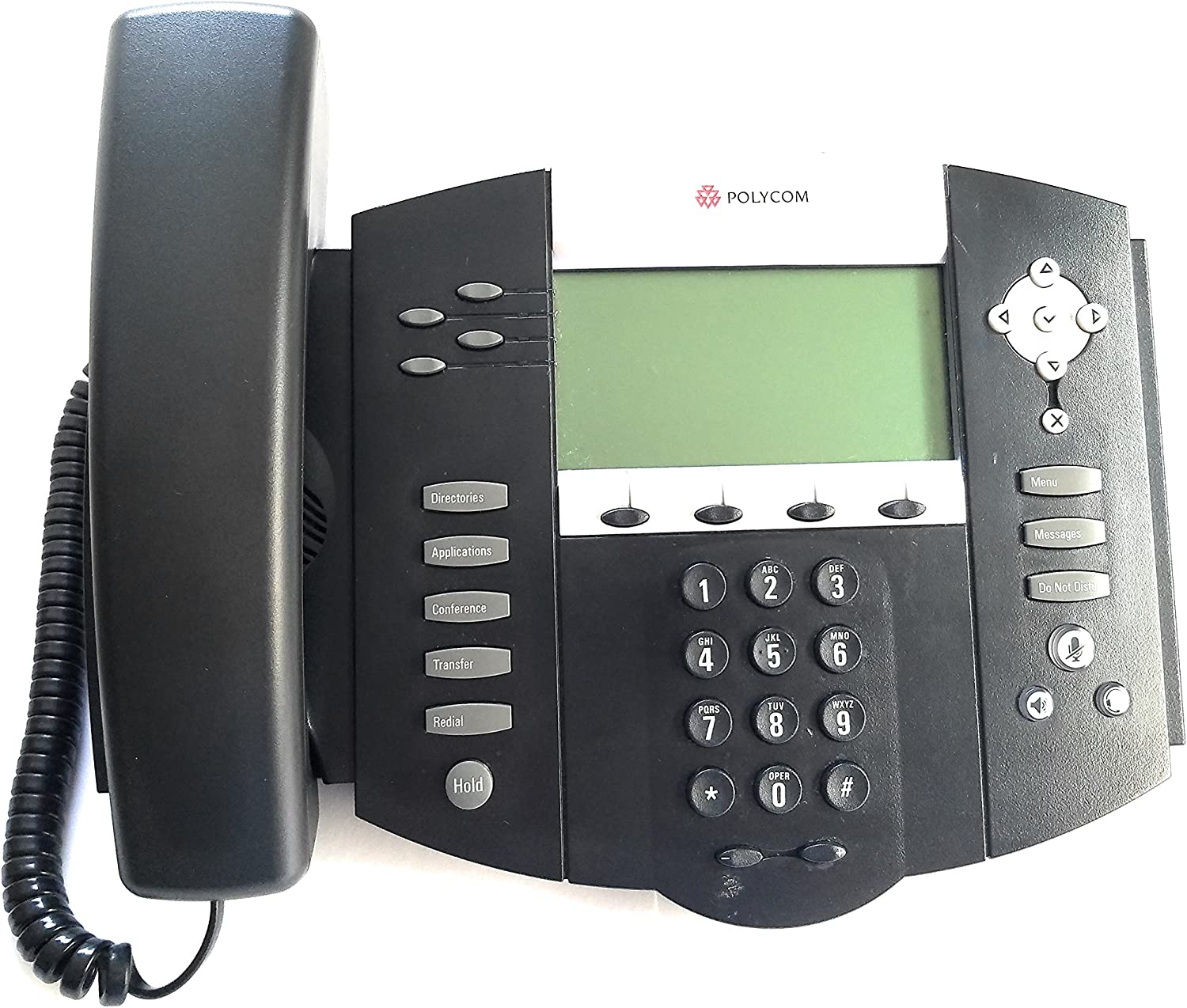 SoundPoint IP 550 SIP 4 line IP desktop phones with HD voice. Compatible Partner Platforms: 20. Country Group: 66, excluding Brazil. Does not include AC power supply. (Part#: 2200-12550-025 ) - NEW