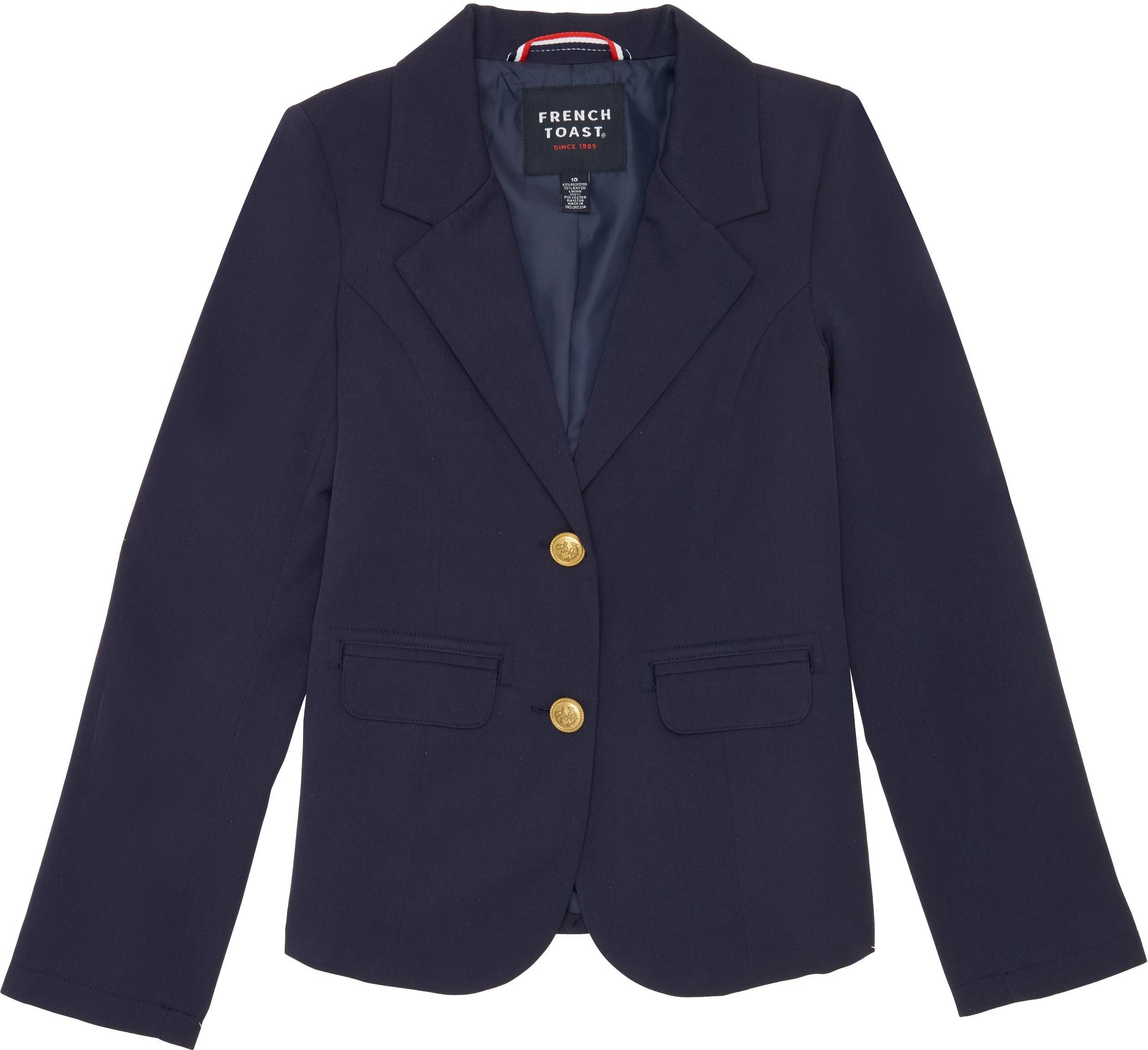 French Toast School Uniform Girls Classic School Blazer, Navy, 6X