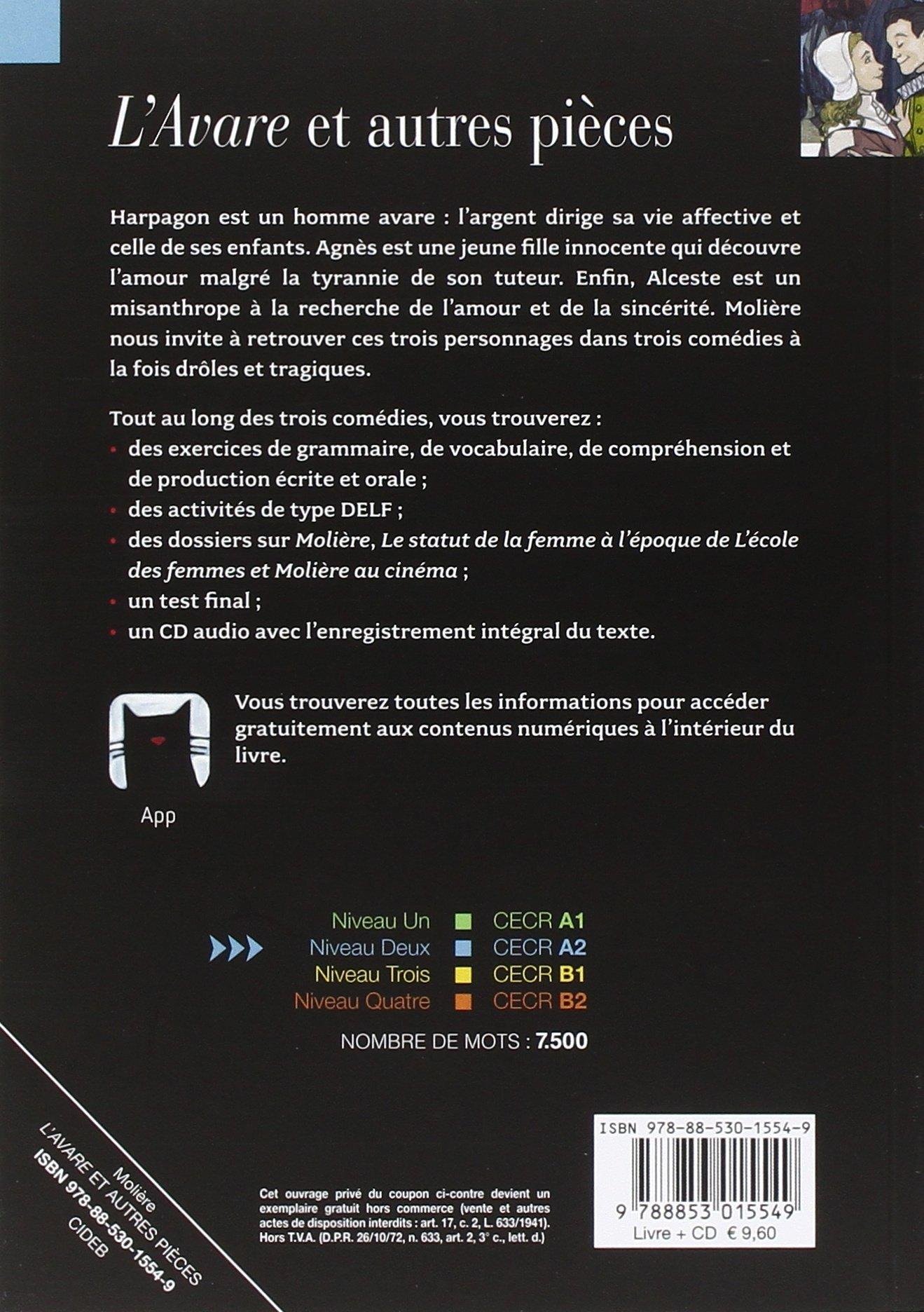 Lavare Con Cd Audio Amazones Molière Libros En Idiomas