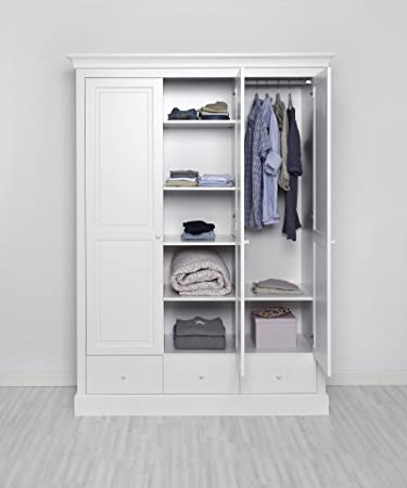 Kinderzimmer Kleiderschrank weiß - ASGER Kinder-Kleiderschrank ...