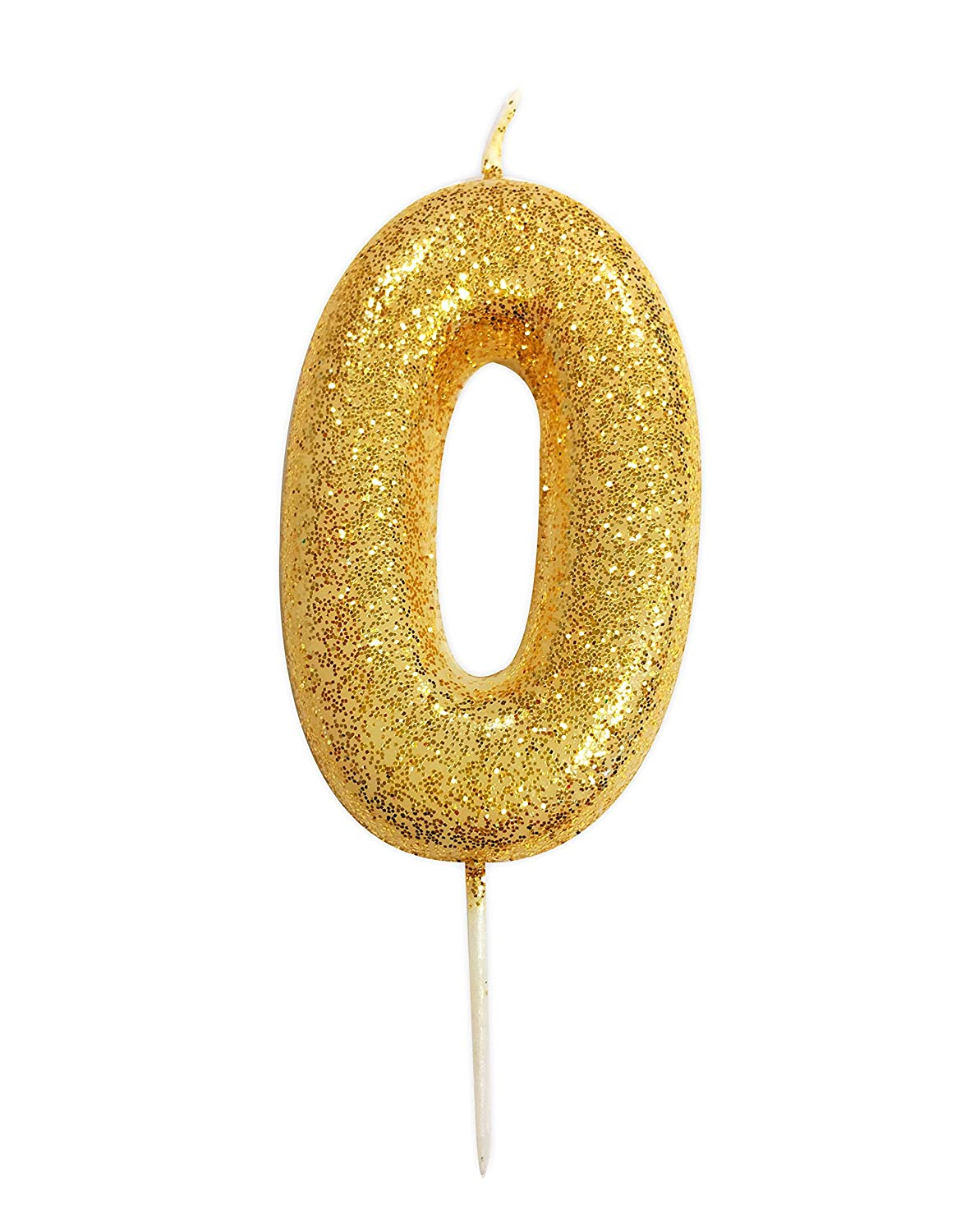 Gold Number Candle - 2 Creative