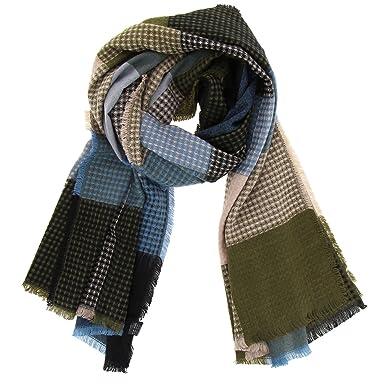 FASHIONGEN - Echarpe femme oversize coton Suzie - Bleu ciel  Amazon.fr   Vêtements et accessoires 2b413324e8e