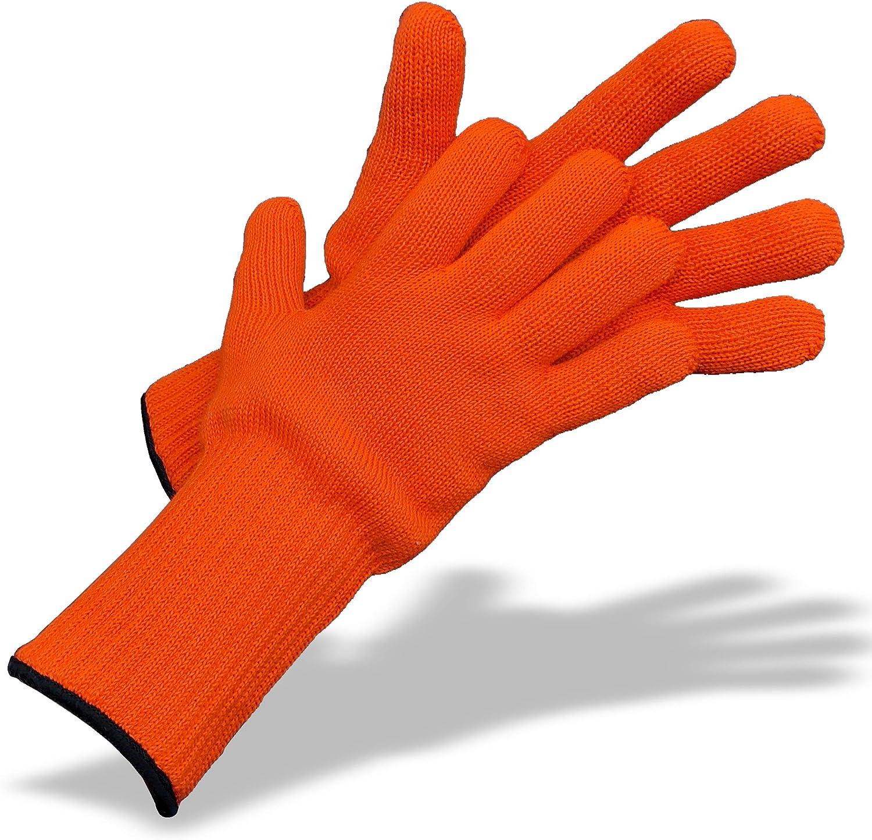 Gants de cuisine robustes pour un usage professionnel en cuisine Medipaq 1 paire - Couleur cr/ème Longs gants de cuisine r/ésistants /à la chaleur pour d/éplacer des plats chauds en toute s/écurit/é