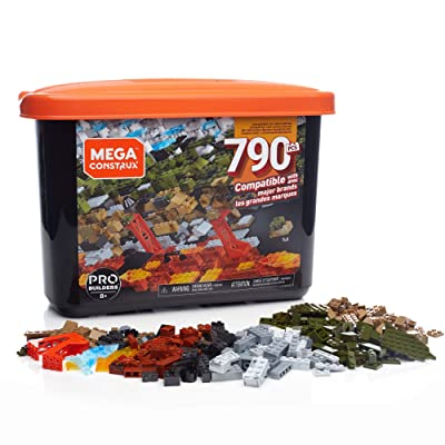 Mega Construx Large Bulk Tub Set, 790-piece: Toys & Games